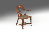 A 19th Century Yew Wood Armchair - ST430