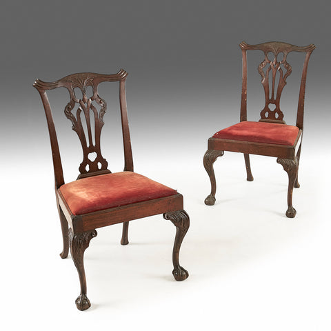 A Pair of Walnut Chairs - REST37