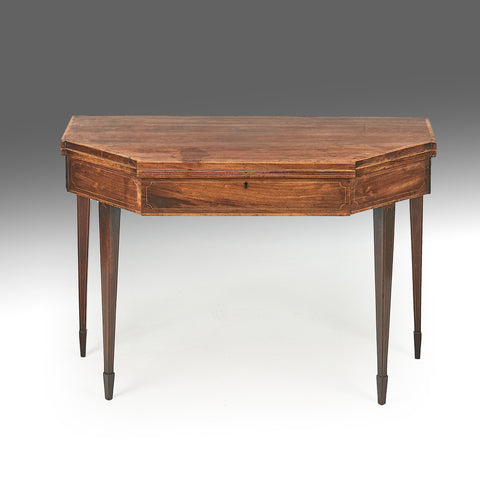 A Georgian Mahogany Tea Table - REST29