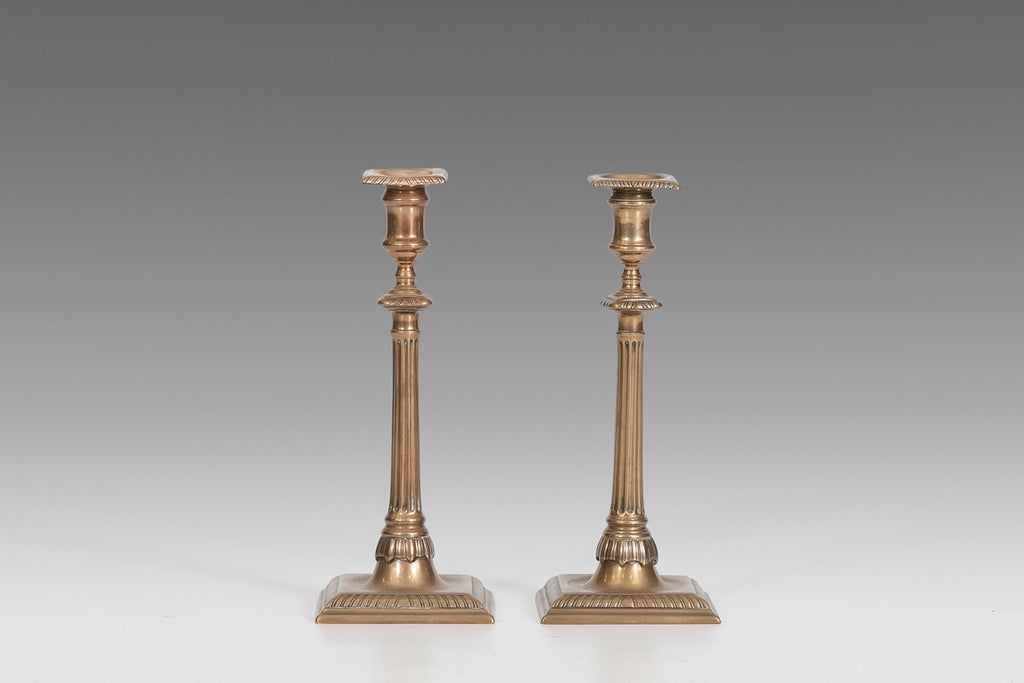 Pair of Brass Georgian Candlesticks - MS117