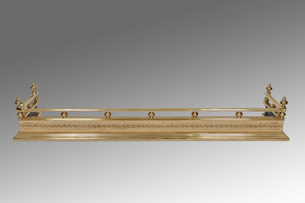 A Regency Brass Fender - MS126