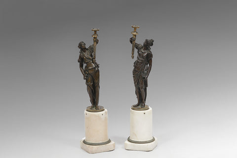 A Pair of Regency Bronze figures - MS155