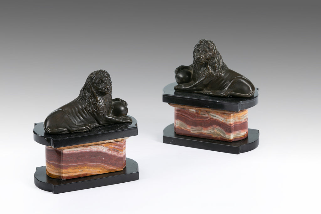 A Pair of 19th Century Bronze Lions - MS184