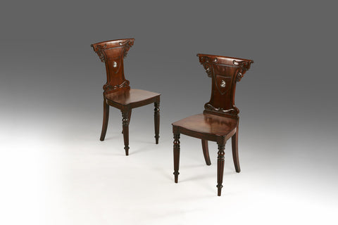 A Pair of Regency Hall Chairs - ST303