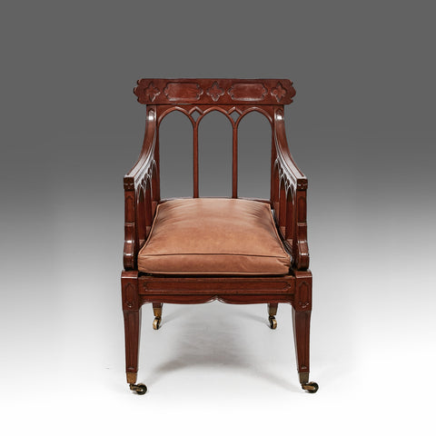 A Fine Pair of Gothic Library Armchairs - ST230
