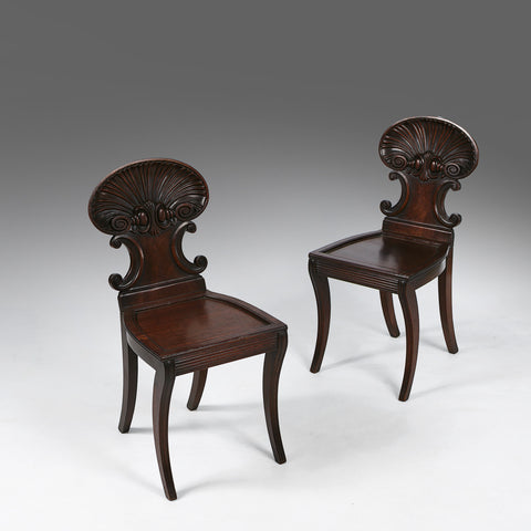 A Pair of 19th Century Hall Chairs - ST308