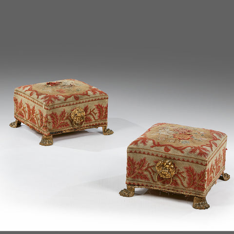 A Pair of Regency Foot Stools - MS171