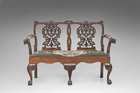 A Pair of George IV Library armchairs - ST157