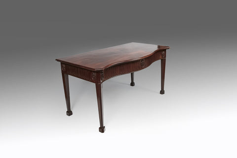 A Fine Georgian Serpentine Side Table - TB233