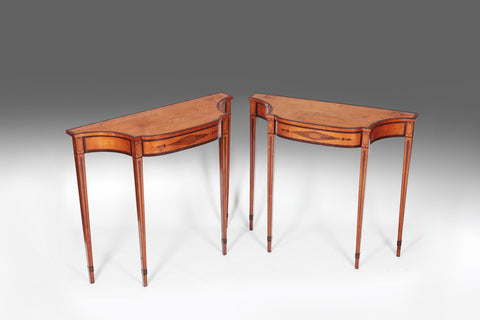 A Pair Of Georgian Satinwood  Console Tables - TB108