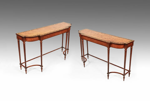 A Rare Pair of 18th Century Painted Tables - TB229