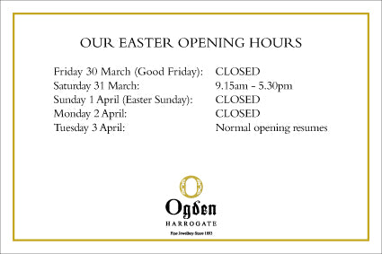 Little Diamond Shop and Harrogate Easter Opening Hours