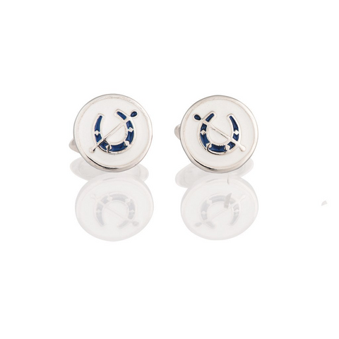 Sterling Silver Horseshoe Cufflinks