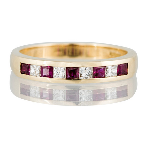 Ruby and Diamond Eternity Ring