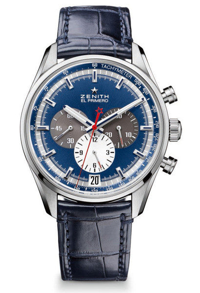 Zenith El Primero Blue Dial Chronograph Watch 03-2040-400-53-C700 - Ogden Of Harrogate