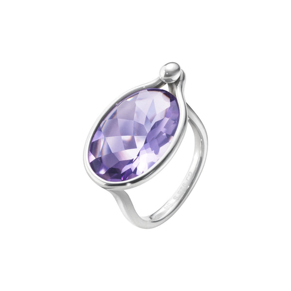Georg Jensen Silver Amethyst 'Savannah' Ring 10003069