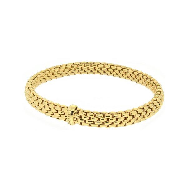 FOPE 18ct Yellow Gold 'Flex'it Vendôme' Bracelet