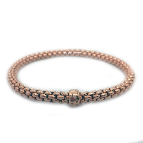 FOPE 18ct Rose Gold 'Flex'it Solo' Bracelet