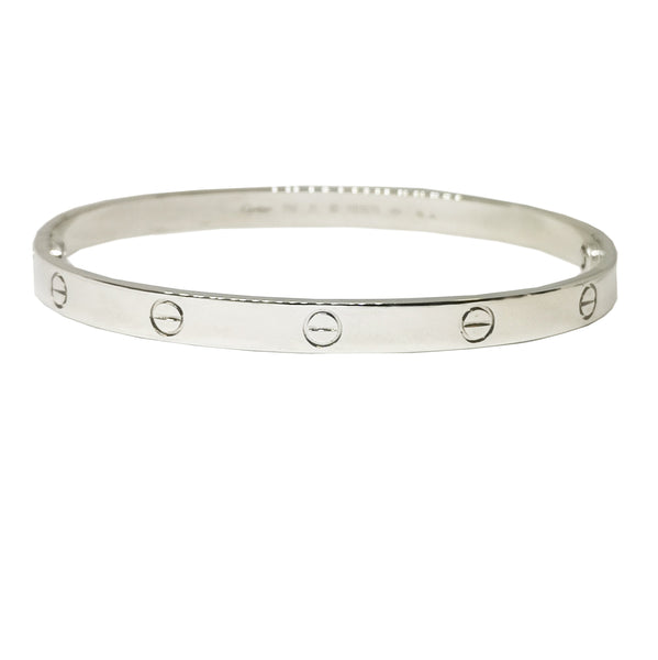 Cartier 18 Carat White Gold Love Bangle