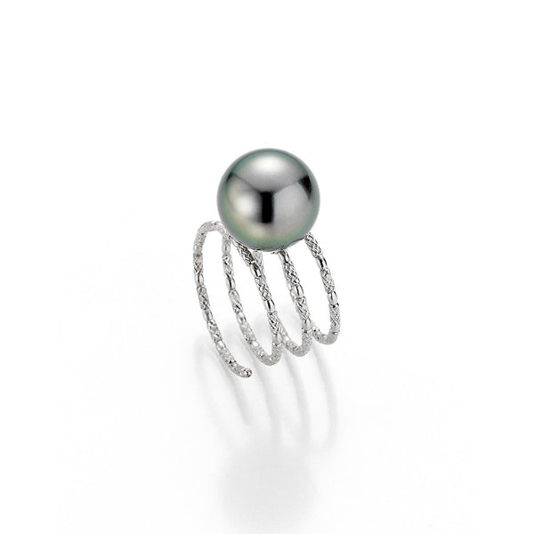 Yana Nesper 18ct White Gold Tahitian Pearl Ring