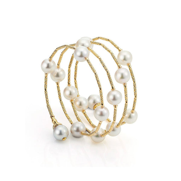 Yana Nesper 18ct Yellow Gold and Akoya Pearl Bracelet