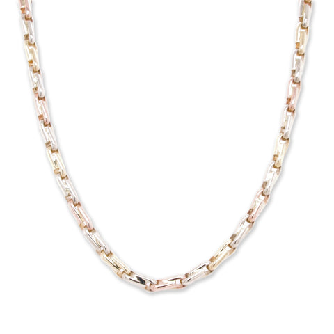 Tricolour Gold Chain Necklace