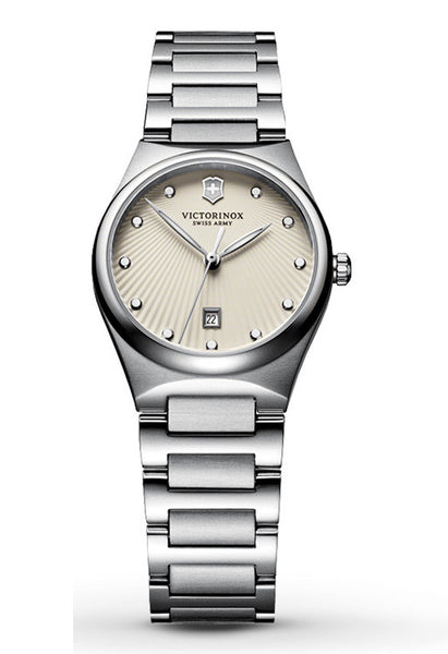 VICTORINOX Victoria eggshell diamond ladies watch 241513 -