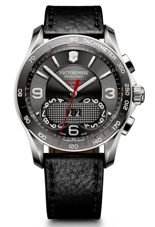 VICTORINOX Swiss Army Chronograph Classic grey dial watch 241616 - Ogden Of Harrogate