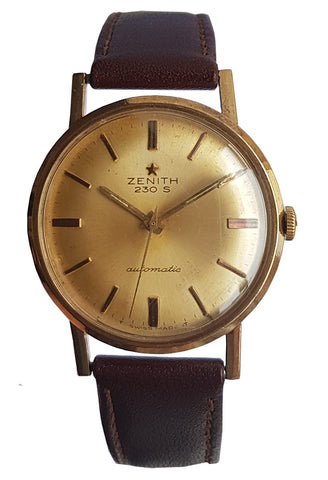 9ct Gold Zenith Automatic 30 Watch circa 1965