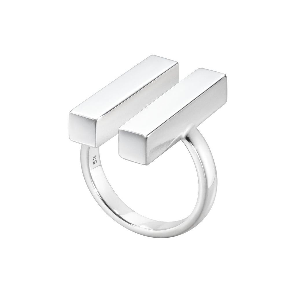 Aria Two Bar Ring- Sterling Silver