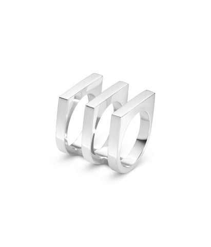 Aria Three Row Ring- Sterling Silver