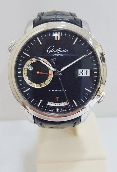 GLASHUTTE Senator Diary Black Dial Watch W 100 13 020204 - Ogden Of Harrogate
