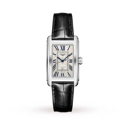 LONGINES L57574710 Dolce Vita Automatic Date Watch on Leather Strap