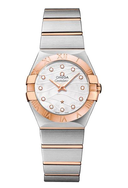 OMEGA Constellation Bi-Coloured Steel and Rose Gold Quartz Watch O12320276055006