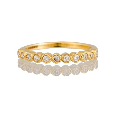 18 Carat Yellow Gold Diamond Half Eternity Ring