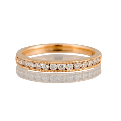 18 carat Rose Gold Diamond Half Eternity Ring