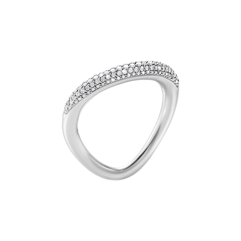 OFFSPRING RING - STERLING SILVER WITH BRILLIANT CUT DIAMONDS - SIZE 5 - 10013257