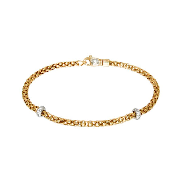 FOPE 18ct Rose Gold and Diamond 'Rigoletto' Bracelet