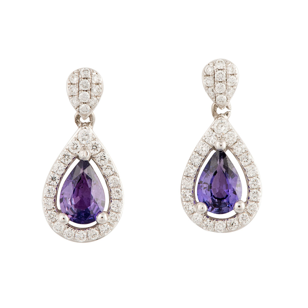 Purple Sapphire Earrings