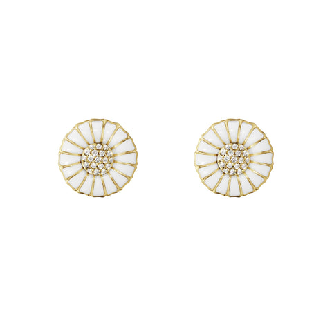 A pair of silver gilt Georg Jensen 'Daisy' earrings