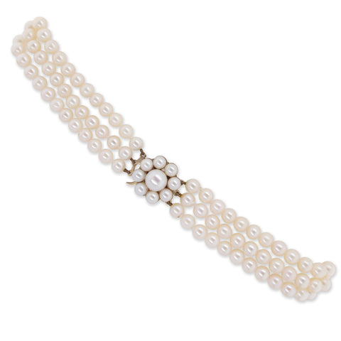Three Row Pearl Choker