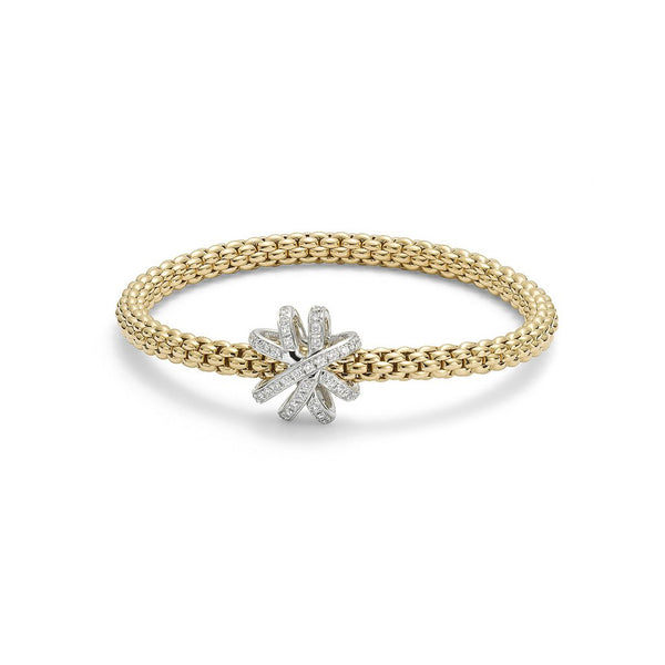 FOPE 18ct Gold and Diamond Flex'it Bracelet  668B