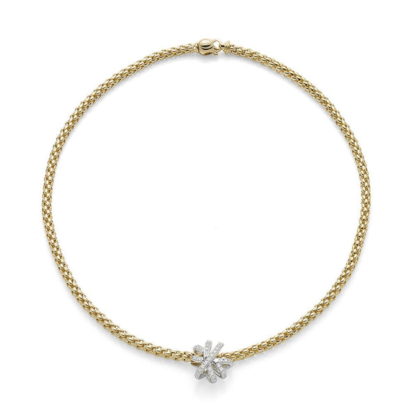 FOPE 18ct Gold and Diamond Flex'it' Necklace 668C