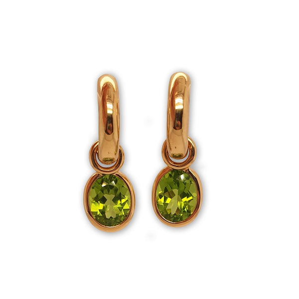 Pair of Detachable Peridot Hoop Earrings