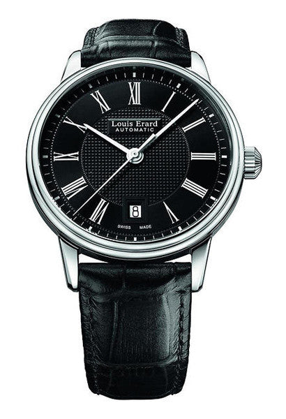 LOUIS ERARD Heritage Classic 40mm black dial watch 69266AA22 BDC82 - Ogden Of Harrogate