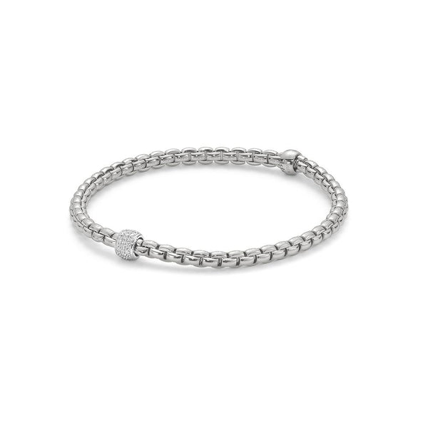 FOPE 18ct White Gold Diamond Bracelet with Rondels 733B