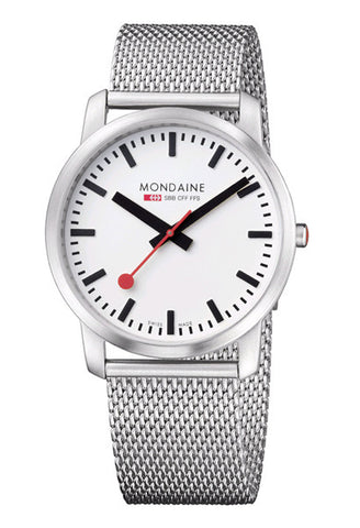 Mondaine A638.30350.16SBM Elegant 41mm white dial watch