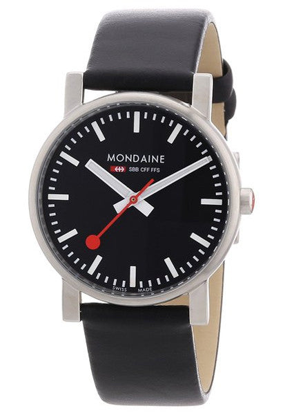 Mondaine A658.30300.14SBB Evolution quartz 35mm black dial watch -  - 1