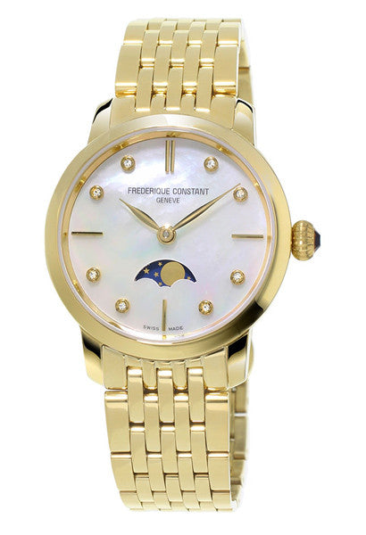 Frederique Constant Classic Moonphase Slimline GP Watch FC-206MPWD1S5B - Ogden Of Harrogate