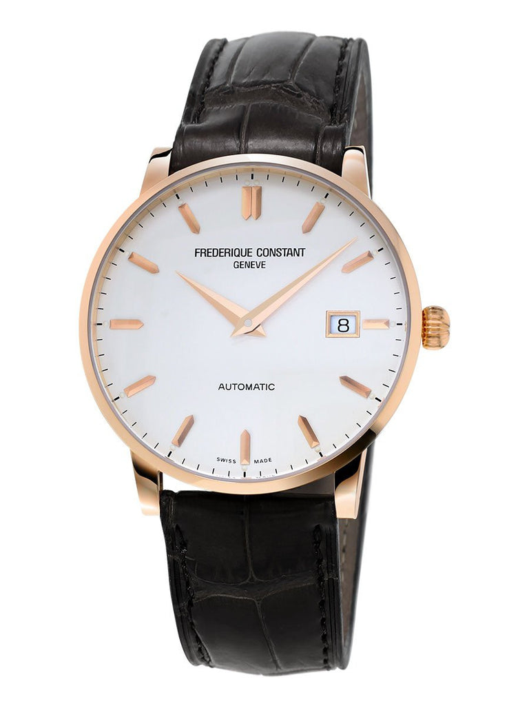 Frederique Constant Automatic Slimline Watch 18ct RG 40mm FC-316V5B9 - Ogden Of Harrogate